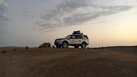 Übernachten in der Wüste.