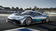 """Mit dem Hypercar """"Project One"""" sorgte Mercdedes-AMG auf der IAA für Aufsehen."""
