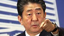 Der Tag: Abe kündigt harten Nordkorea-Kurs an