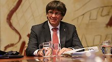Carles Puigdemont bleibt lieber in Barcelona und tagt morgen mit dem katalanischen Parlament.