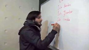 Studenten hoffen auf bessere Zukunft: Syrer pauken Deutsch und Medizin im Kriegsgebiet