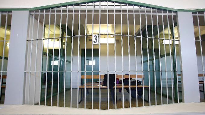 Die Anhörungszelle im Rebibbia-Gefängnis von Rom.
