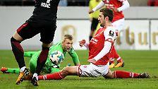 """""""Ich mache jetzt keine Luftsprünge, bin aber auch nicht tieftraurig."""" Torwart Robin Zentner von Mainz 05 kommentiert sein Bundesliga-Debüt nüchtern."""