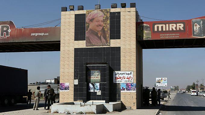 Massud Barsani an einem Checkpoint der nordirakischen Kurdenregion Erbil.