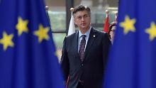 Kroatiens Ministerpräsident Andrej Plenkovic ist seit zwei Jahren im Amt. Binnen zwei Legislaturperioden will er Kroatien in die Euro-Zone führen.