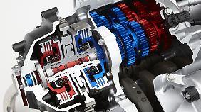 Das DCT ermöglicht auch einen manuellen Gangwechsel auf Knopfdruck.