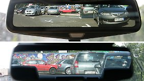 Mehr Rücksicht: Der Vergleich zwischen Kamera- und Spiegelbild (unten) macht den Unterschied deutlich.