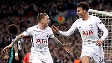 Das ist Tottenham: Dele Alli, rechts, jubelt mit dem Kollegen Christian Eriksen.