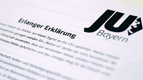 Mit großer Mehrheit verabschiedete die Junge Union Bayern die Erlanger Erklärung.