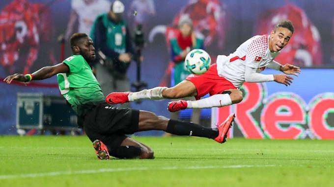 Yussuf Poulsen soll seine Pressing-Stärke gewinnbringend für das RBL-Team einsetzen.