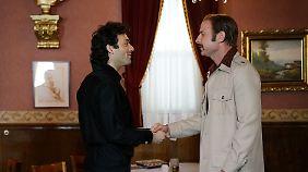 """Die beiden """"Rockys"""": Stallone (gespielt von Morgan Spector) und Chuck Wepner (gespielt von Liev Schreiber)."""