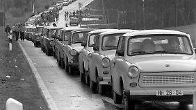 Zwischen November 1957 und April 1991 wurden insgesamt rund drei Millionen Fahrzeuge der Trabant-Baureihe produziert.