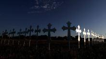 Die Kreuze der Ermordeten