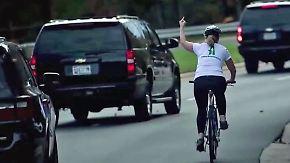 Im Netz gefeiert, vom Chef gefeuert: Mittelfinger gegen Trump kostet Radlerin den Job