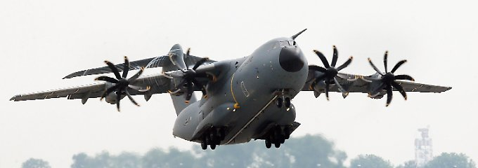 Der A400M, wenn er fliegt.