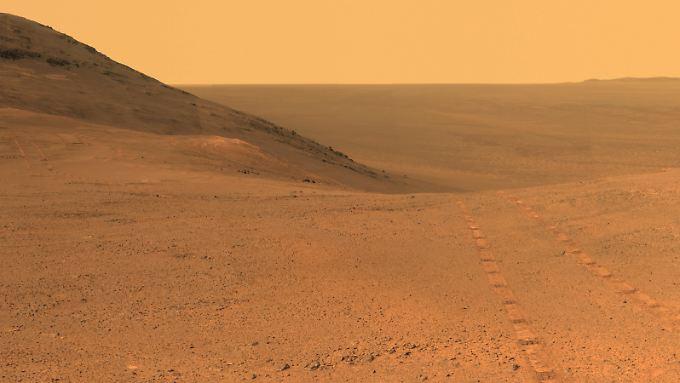 Die Aufnahmen der Nasa zeigen eine Region direkt über dem sogenannten Perseverance-Tal auf dem Mars.