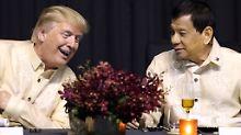 """Ein Liebeslied vom Präsidenten: Duterte und Trump haben """"tolle Beziehung"""""""