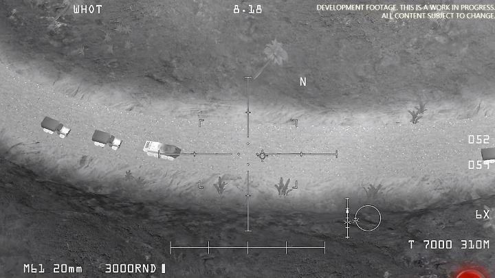 """Szene aus dem Trailer für das Handy-Spiel """"AC-130 Gunship Simulator: Special Ops Squadron""""."""