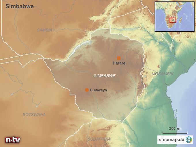 Simbabwe: Der autoritär regierten Binnenstaat im Südosten des afrikanischen Kontinents grenzt unter anderem an Mosambik und Südafrika.
