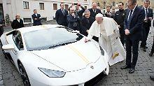 Papamobil statt Sportwagen: Papst verschmäht geschenkten Lamborghini