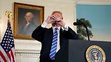 """""""Ich habe kein Wasser"""": Trump irritiert mit Trink-Einlage"""