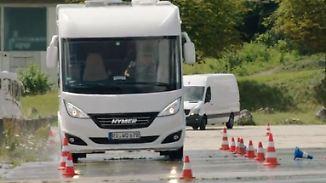 Fahrsicherheitstraining für Reisegespanne: Vollbremsung mit Wohnmobil will gelernt sein