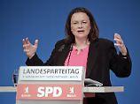 """Der Tag: SPD-Chefin Nahles: """"Nicht der Notnagel von Frau Merkel"""""""