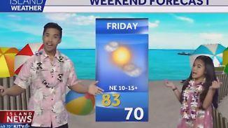 Sonnenschein-Duett im Urlaubsparadies: Hawaiianischer Wettermoderator hat Stimme aus Gold