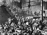 Auf nach New York! Zahlreiche deutsche treten um 1850 die Reise über den Atlantik an.