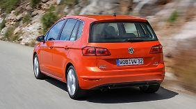Der Sportsvan baut natürlich höher als der Golf, bietet aber auch mehr Platz.