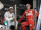 Im nächsten Jahr fahren sie dann wieder im Kreis: Weltmeister Lewis Hamilton und sein Rivale Sebastian Vettel.
