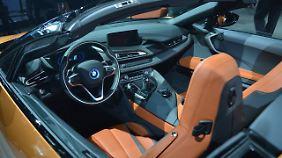 160.000 Euro werden fällig, will man in den i8 Roadster einsteigen.