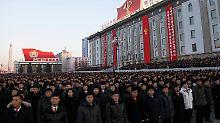 Party als Machtdemonstration: Nordkorea feiert seinen Raketentest