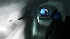 Im Tunnel spürt man den Klimawandel hautnah.
