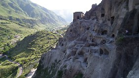 Das Höhlenkloster Wardsia zählt zu den Attraktionen Georgiens.