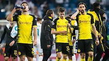 Ratlose Gesichter, die nach der Winterpause in der Europa League spielen: die Dortmunder