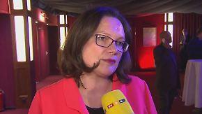 """Andrea Nahles zu Gesprächen mit Union: SPD kann """"ja nicht den Vogel Strauß machen"""""""