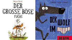 """""""Der Große Böse Fuchs"""" ist bei Avant erschienen, 192 Seiten, 25 Euro. / """"Der Wolf im Slip"""" ist bei Splitter erschienen, 36 Seiten, 14,80 Euro."""