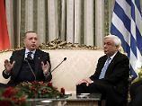 Historischer Staatsbesuch: Erdogan stellt in Athen Grenzverlauf infrage