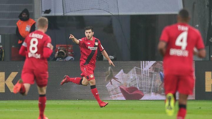 Mit Bayer Leverkusen belegt Volland aktuell den neunten Tabellenplatz.