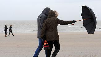Nasskalter Dienstag: Es wird windig