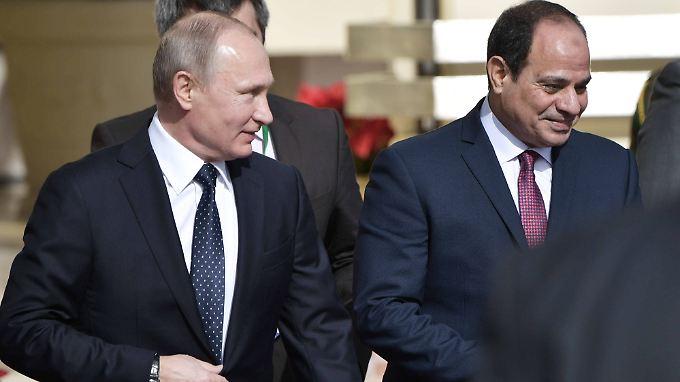 Russlands Präsident Wladimir Putin ist auf Staatsbesuch bei Ägyptens Staatschef Abdel Fattah Al-Sisi.