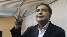 Machtkampf in Kiew geht weiter: Ukrainisches Gericht lässt Saakaschwili frei