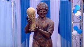 Konkurrenz für Ronaldo-Büste: Maradona-Statue provoziert ungläubige Lacher
