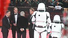 """""""Prinzen-Alarm"""" bei Premiere: William und Harry sehen """"Star Wars VIII"""""""