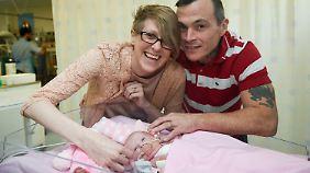 Vanellopes Eltern, Naomi und Dean, hatten sich entgegen dem Rat der Ärzte gegen eine Abtreibung entschieden.