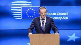 """""""Antieuropäisch"""" und """"inakzeptabel"""": Tusks Aussage zu EU-Flüchtlingspolitik löst Eklat aus"""