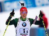 Der Sport-Tag: Biathlon-Königin Dahlmeier sprintet aufs Podest