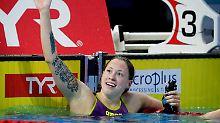 Gold über 800 Meter Freistil: Köhler stiehlt Männern die Show
