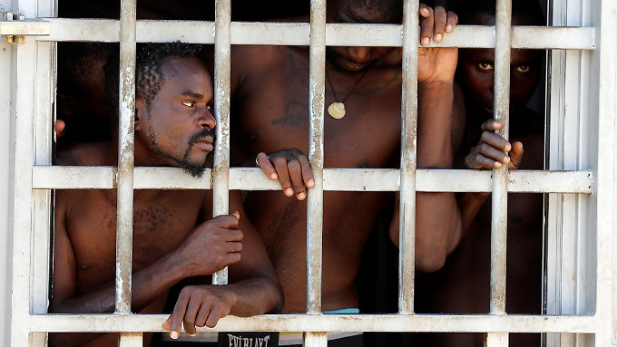 Häftlinge in Libyen